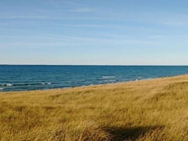 View of Lake Michigan, New Buffalo, MI - Photo: R. Cameron
